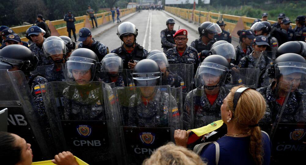 Situação na fronteira entre a Venezuela e a Colômbia