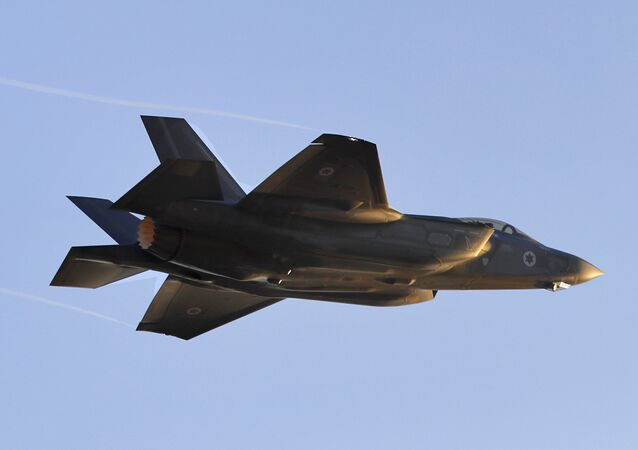 Caça F-35 Lightning II da Força Aérea israelense realiza manobra na base Hatzerim, em Israel, em 26 de dezembro de 2018