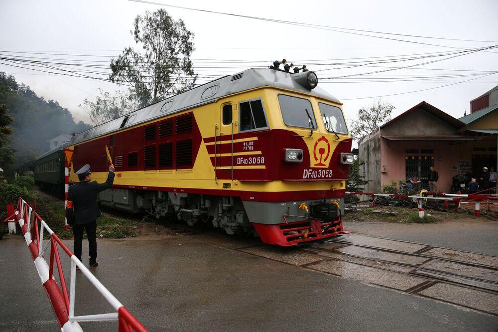 Trem em que o líder norte-coreano Kim Jong-un chegou ao Vietnã