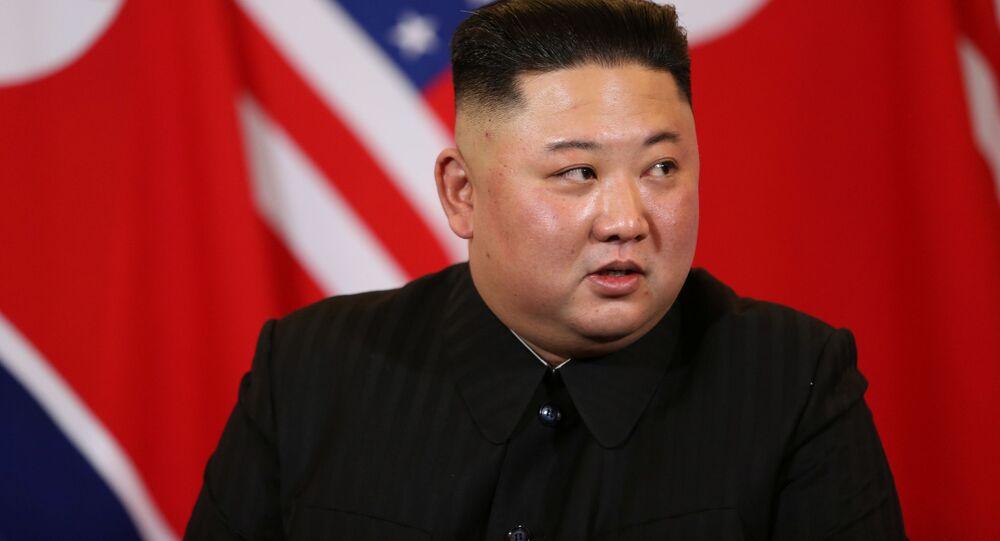 O líder norte-coreano Kim Jong-un durante seu encontro com o presidente dos EUA Donald Trump
