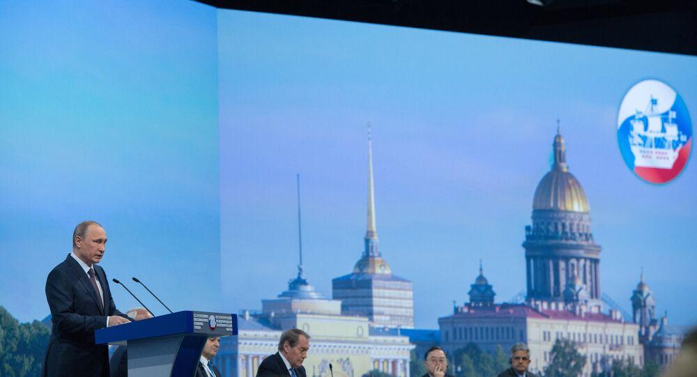 Vladimir  Putin no Fórum Econômico Internacional de São Petersburgo