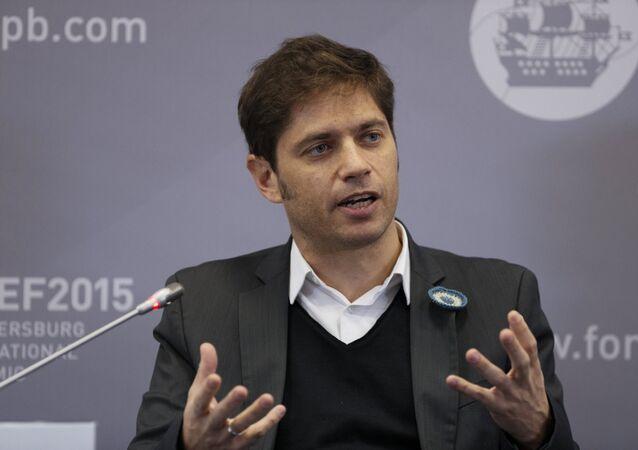 Axel Kicillof, ministro da Economia da Argentina.