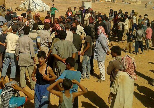 Campo de refugiados de Rukban, na Síria