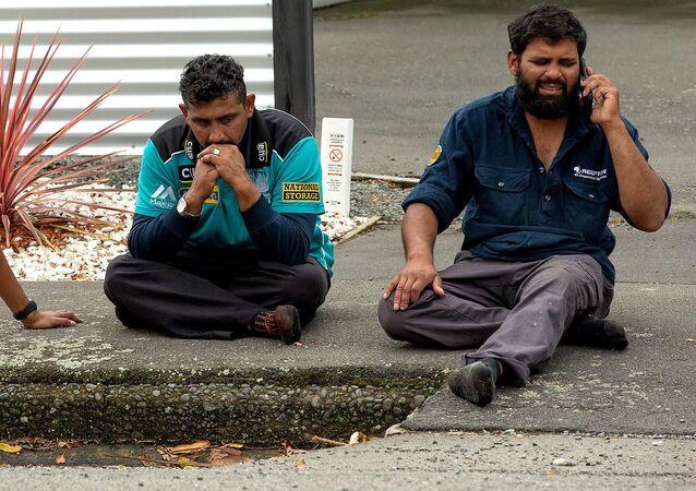 Testemunhas do tiroteio que aconteceu em uma das mesquitas de Christchurch, Nova Zelândia, 15 de março de 2019