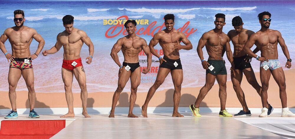 Participantes do Body Power Beach Show, Goa