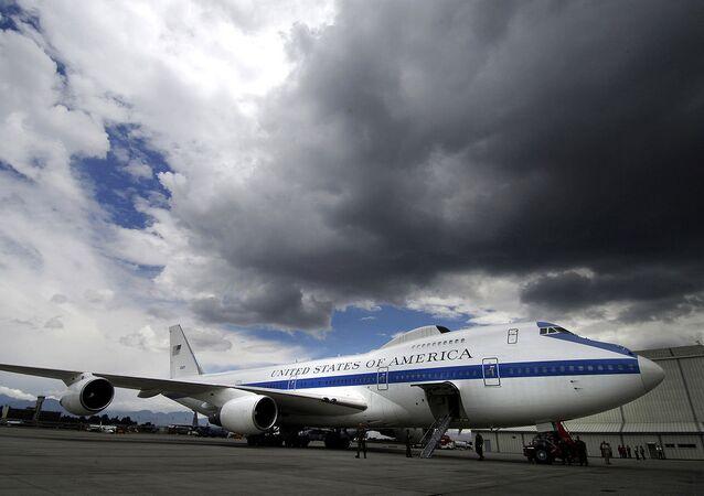 Avião Boeing E-4B, também conhecido como avião do Juízo Final
