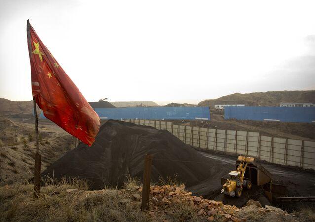Mina de carvão na China.