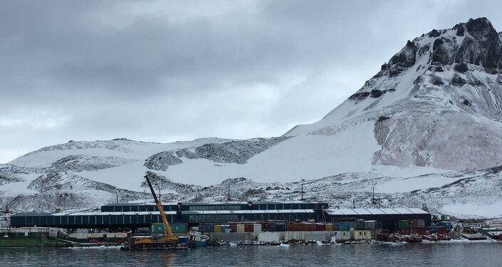 Nova Estação Antártica Comandante Ferraz, reconstruída após incêndio em 2012.