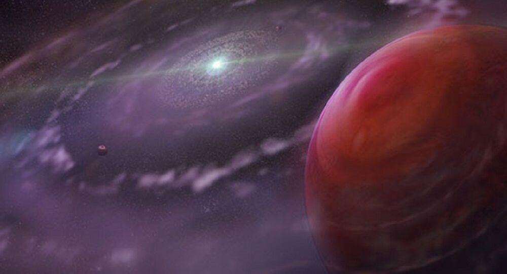 Sistema estrelar HR 8799 (apresentação artística)