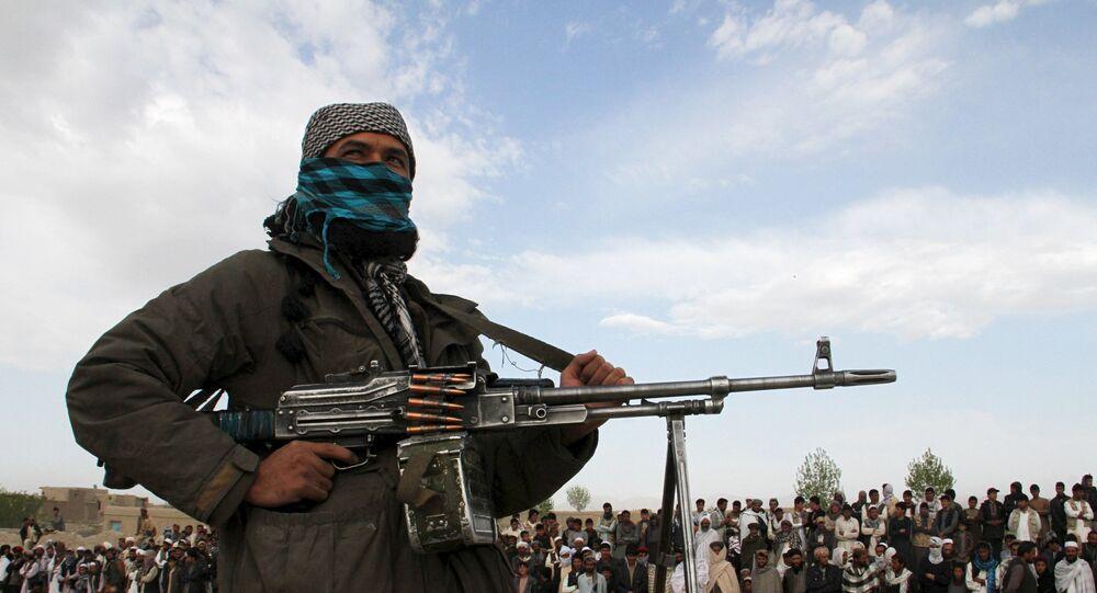 Militante do Talibã segurando arma na província de Ghazni, no Afeganistão (foto de arquivo)