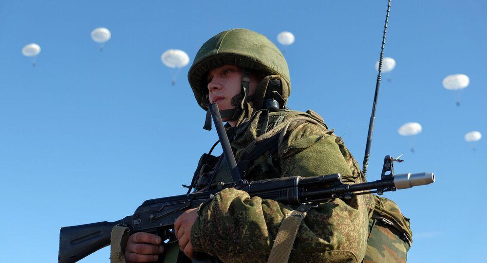 Militar da divisão das Tropas Aerotransportadas russas