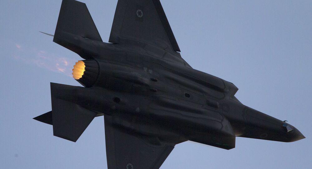 Caça F-35 da Força Aérea israelense durante apresentação na cidade de Beersheba, Israel, 29 de dezembro de 2016
