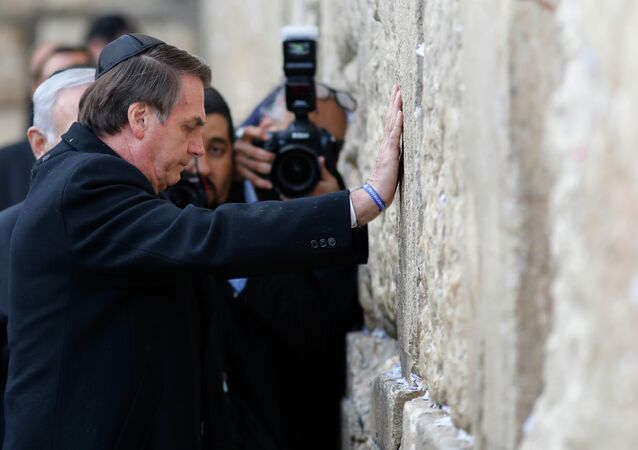Jair Bolsonaro visita o Muro das Lamentações em Israel
