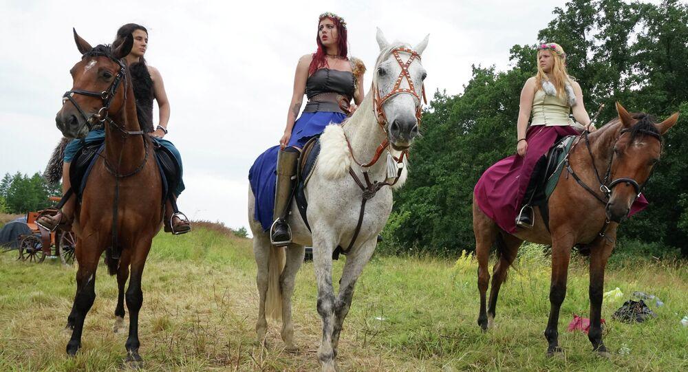 Festival de vikings na região de Kaliningrado, Rússia (foto de arquivo)