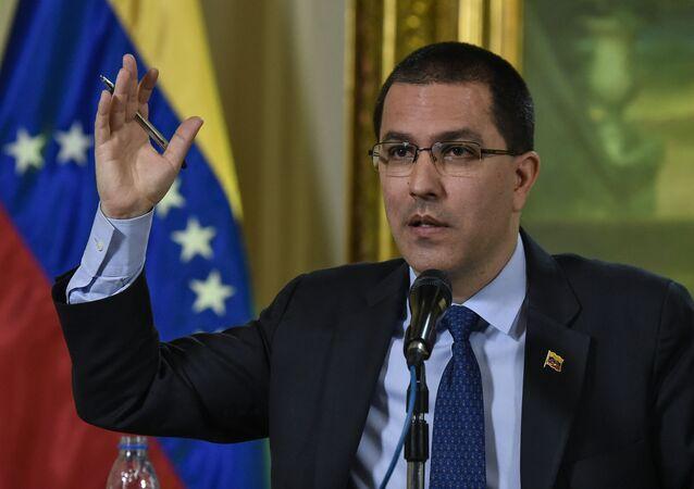 Ministro das Relações Exteriores da Venezuela, Jorge Arreaza, 28 de janeiro de 2019