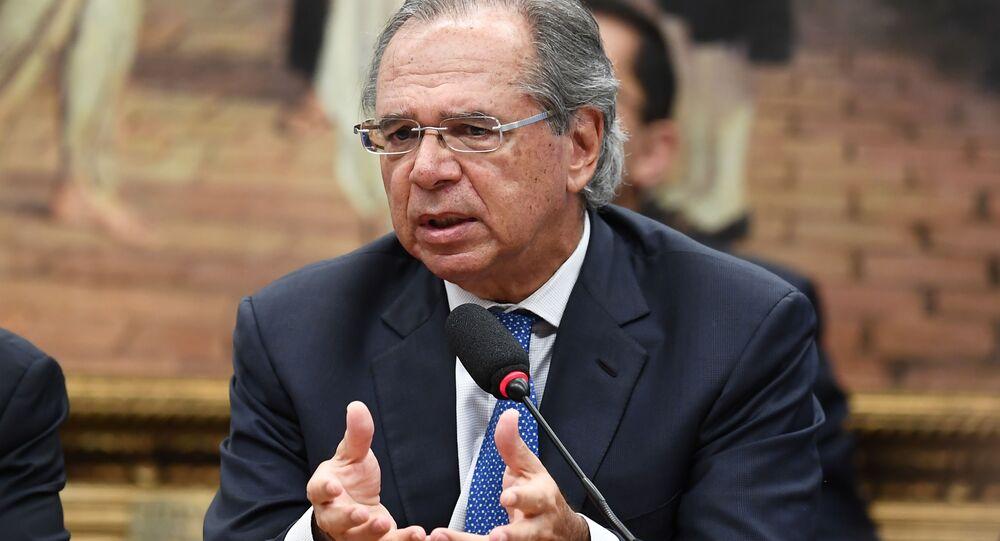Ministro da Economia do governo Bolsonaro, Paulo Guedes