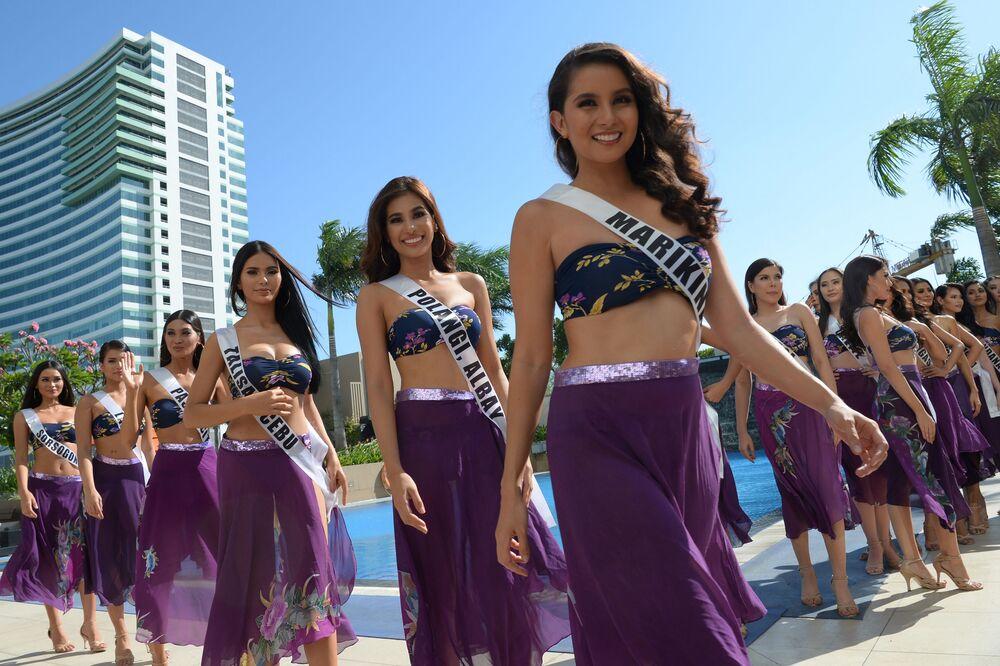 Quase 40 garotas lindas vão demonstrar todo esplendor para conquistar o título da mulher mais bela das Filipinas