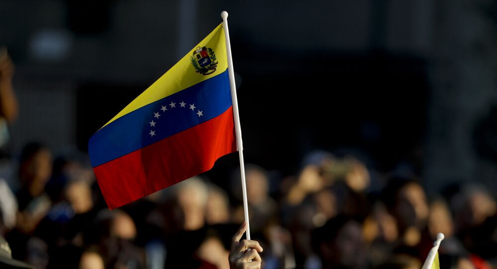 Manifestação em Caracas, Venezuela