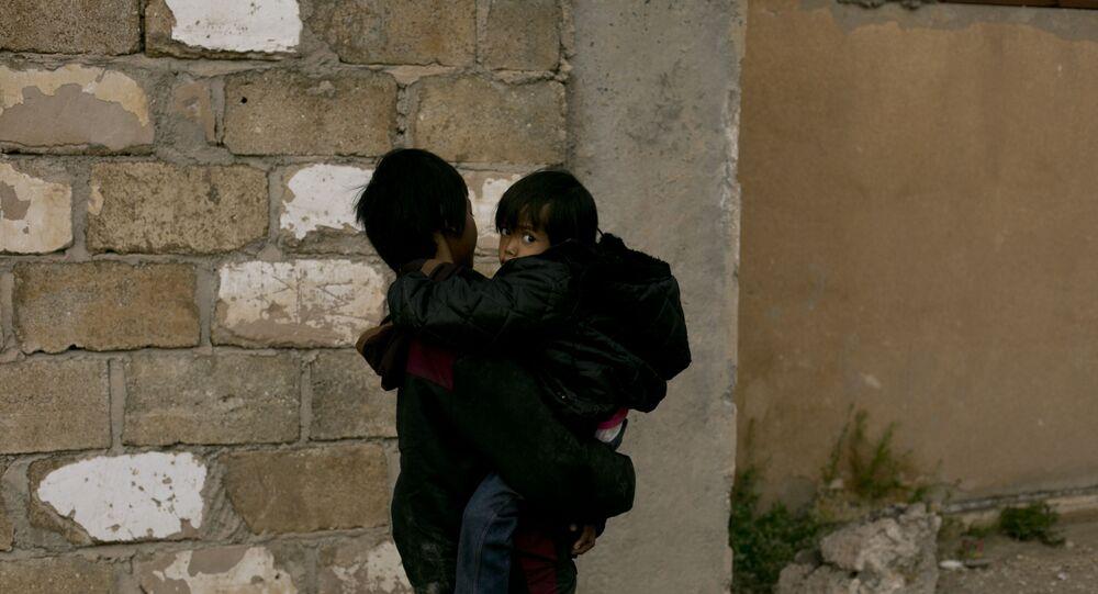 Crianças no campo de Al-Hol, na Síria (arquivo)