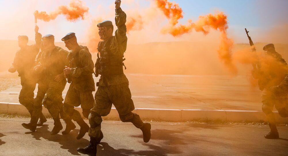 Soldados participam da abertura dos Jogos Militares Internacionais 2019