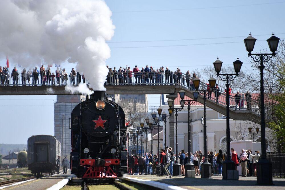 Chegada do Trem da Vitória na Crimeia