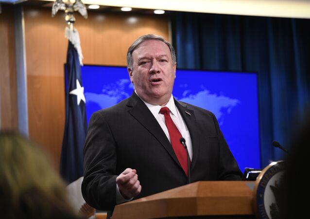 Secretário de Estado dos EUA, Mike Pompeo