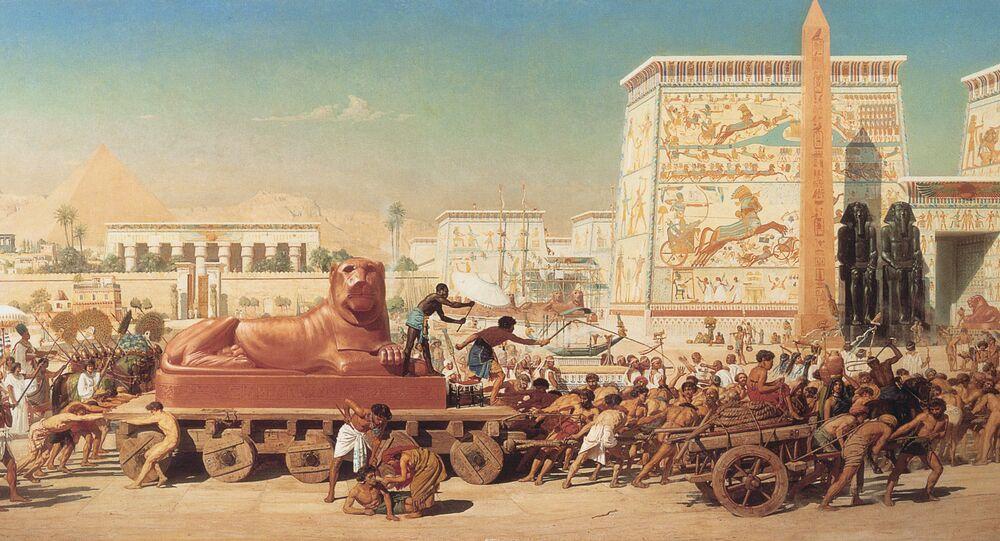 1867 Edward Poynter - Israel no Egito
