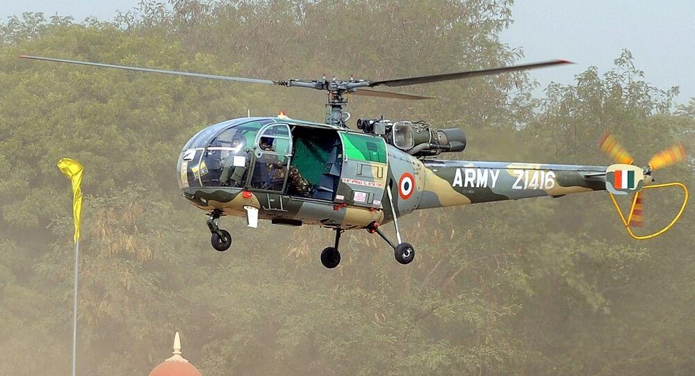 Helicóptero Chetak das Forças Armadas da Índia (arquivo)