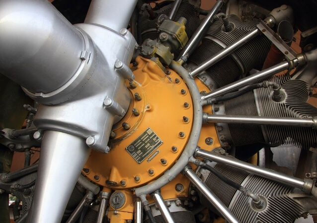 Peças de turbina de avião
