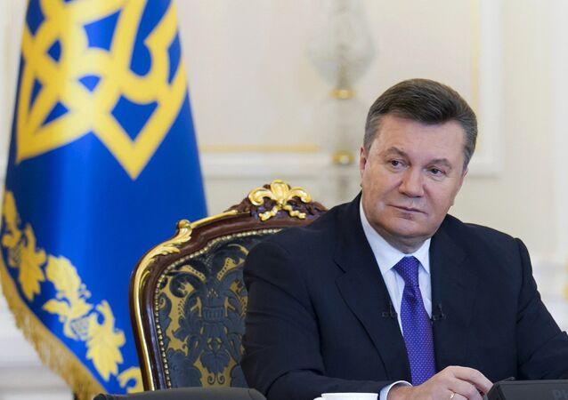 Viktor Yanukovich, ex-presidente da Ucrânia, derrubado através de um golpe de Estado em fevereiro de 2014 (arquivo)