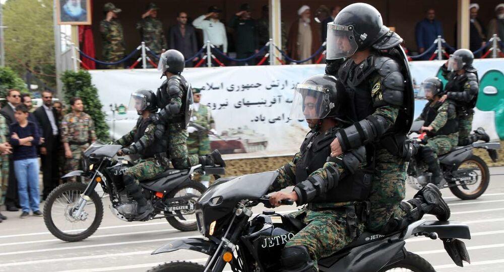 Infantaria mecanizada do Corpo de Guardiões da Revolução Islâmica