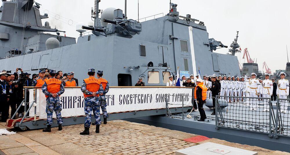 A fragata Admiral Gorshkov foi entregue à Marinha em julho de 2018
