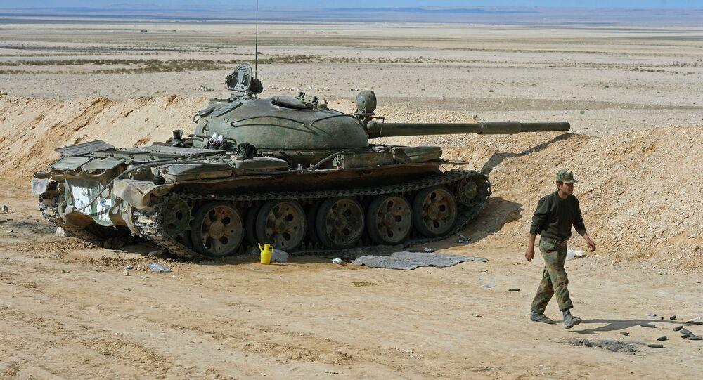 Tanque russo T-62 na Síria (arquivo)