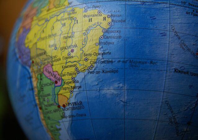 Mapa da América do Sul (imagem de arquivo)