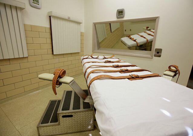 Câmara de injeção letal da Penitenciária Estadual de Dakota do Sul, em Sioux Falls, EUA (arquivo)