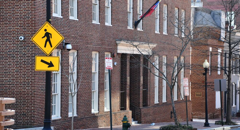 Prédio da embaixada da Venezuela em Washington