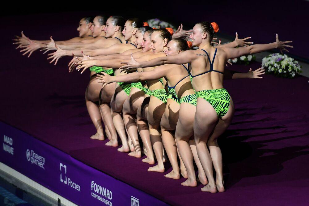 Terceira etapa de nado sincronizado da Série Mundial organizada pela Federação Internacional de Natação (FINA)