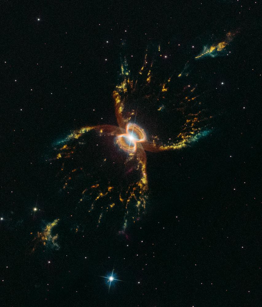 Nebulosa do Caranguejo do Sul fotografada pelo telescópio Hubble da NASA