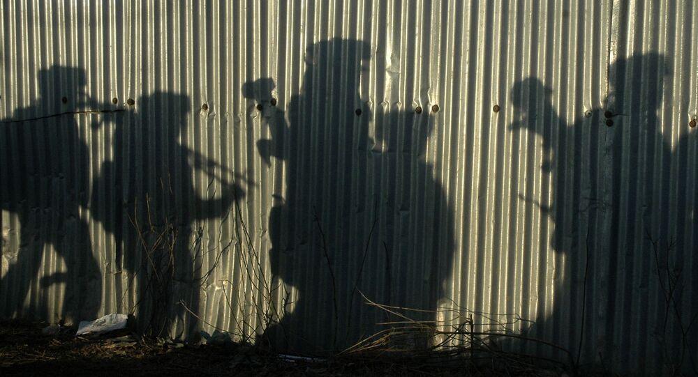 Sombra de soldados indianos (Arquivo)