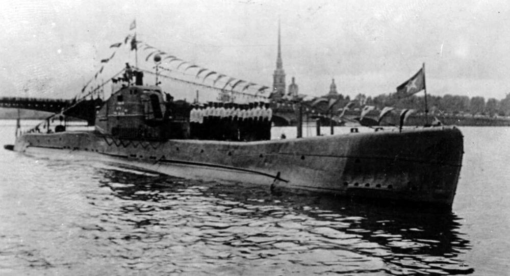 Submarino soviético Shch-324 (imagem referencial)