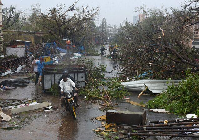 Consequências do ciclone Fani no estado indiano de Orissa
