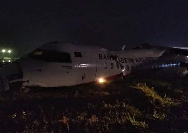 Um avião da Biman sofre acidente na pista do Aeroporto Internacional de Yangon