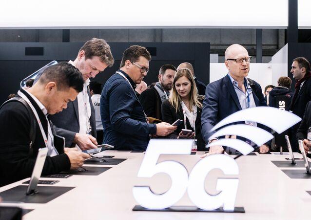 Estande 5G no Mobile World Congress 2019
