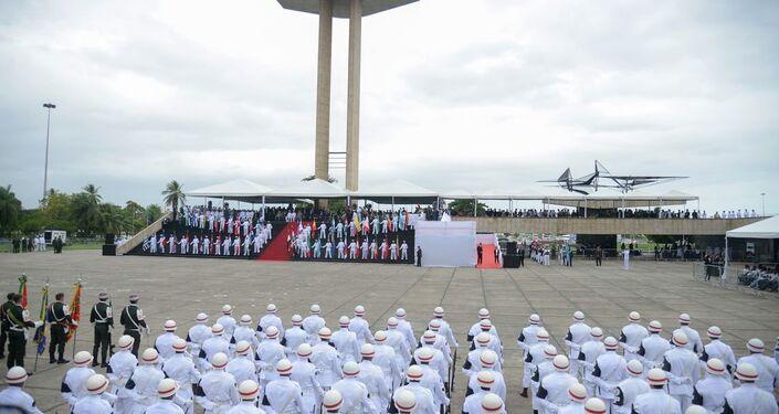 Evento em homenagem ao Dia da Vitória aconteceu no Aterro do Flamengo, no Rio