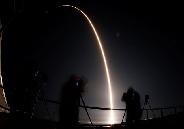 Lançamento do SpaceX Falcon 9 (foto de arquivo)