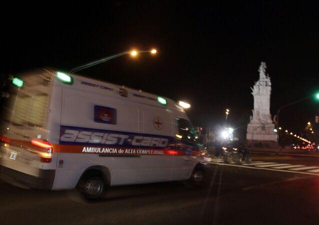 Ambulância na Argentina