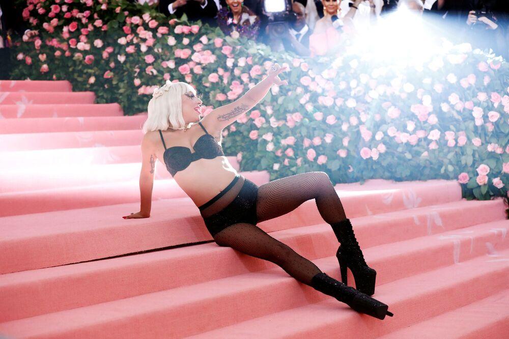 Cantora Lady Gaga durante o Met Gala 2019
