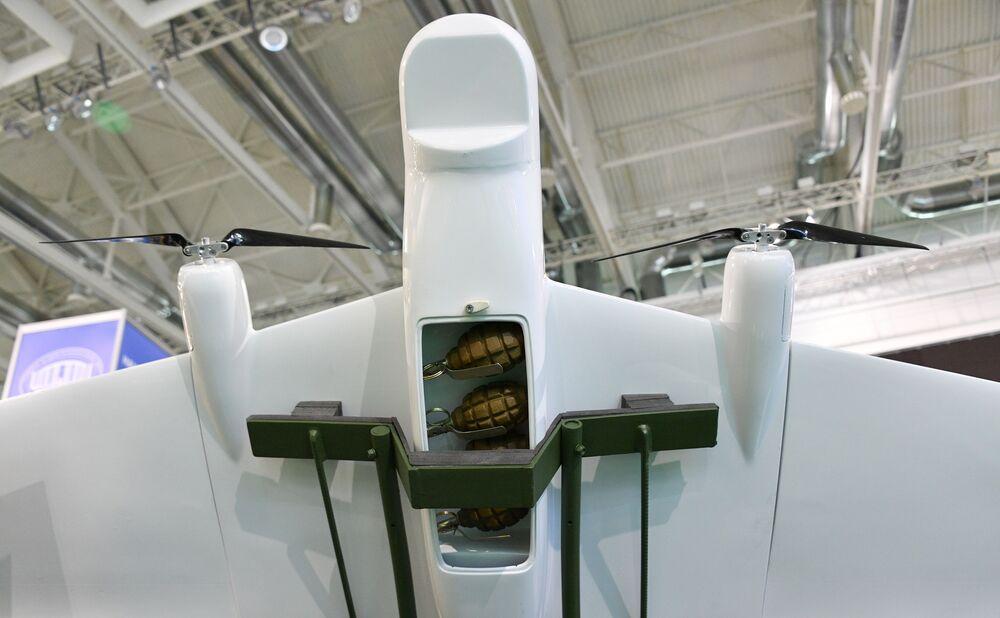 Drone Busel MB2 exposição internacional de armamento e equipamento militar MILEX 2019, em Minsk
