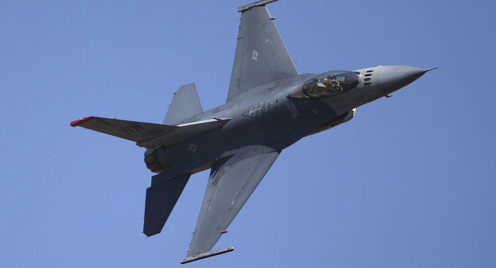 Caça F-16 da Força Aérea dos EUA