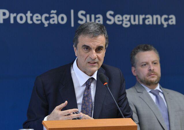 Ministro da Justiça, José Eduardo Cardozo, durante entrevista para falar sobre o levantamento de informações penitenciárias